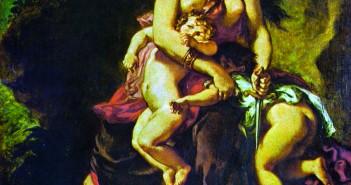 Eugene DeLaCroix, Medea About to Kill her Children, 1838