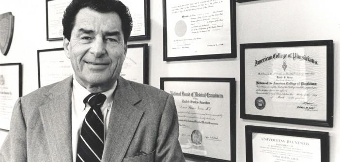 Dr. David S. Greer, former dean of Alpert Medical School, died Tuesday, November 18, 2014.