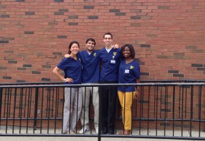 The Sex Ed by Brown Med executive board. From left: Dorothy Liu MD'17, Kunal Sindhu MD'17, Michael Yacovelli MD'17, Naomi Adjei MD'17. (Not pictured: Vinay Rao MD'17).