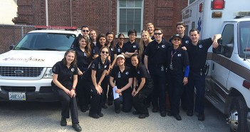 Alpert Medical Students and undergraduates comprise most of the staff of Brown University Emergency Medical Services. Courtesy Brown EMS