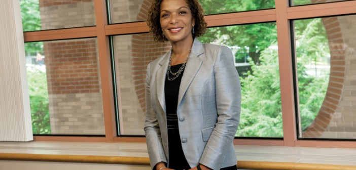 Phyllis Dennery received the Distinguished Alumni Award from the Office of the Dean of the Howard University College of Medicine, which recognizes distinction in leadership, teaching, clinical care, and research. Photo by William Murphy / Lifespan