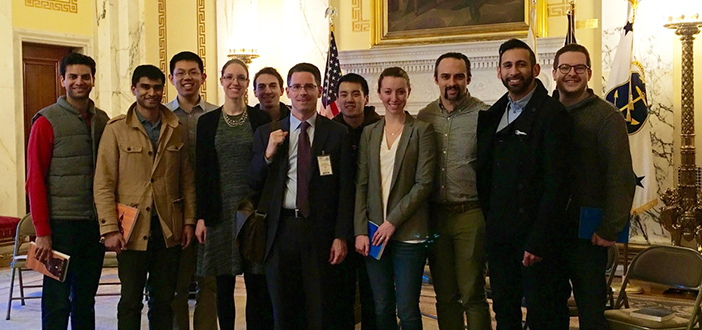 Members of the Alpert Medical School chapter of Citizen Physicians visit the Rhode Island State House. Courtesy Citizen Physicians