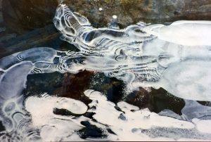 """""""Frozen Creek,"""" by Leonard Mermel."""