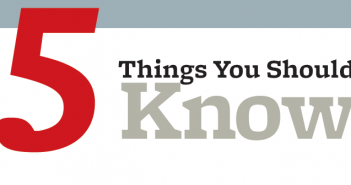 Five things you should know