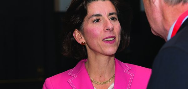 OPENING CELEBRATION: Rhode Island Governor Gina Raimondo received the W.W. Keen A ward from the Brown Medical Alumni Association.