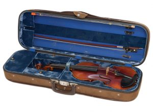 Strings attached: Williams, a classically trained violinist, got this instrument when he was 10 years old. He still performs at his family's Celtic Yuletide concert in Seattle every year.
