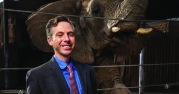 DREAM TEAM : Schiffman goes to Utah's Hogle Zoo almost every weekend with his three kids. He collaborates with the zoo's elephant keepers in his cancer research. Photo by August Miller