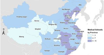 Every province in China has at least two medical schools. Image courtesy Adashi et. al.