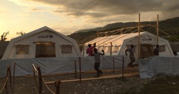 The cholera treatment unit in Les Anglais, Haiti, sees patients in one of two tents, depending on the severity of their illness. Photo courtesy Adam Levine