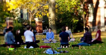 A new study finds that mindfulness meditation has different effects for men and women in addressing mood. Photo by Mike Cohea