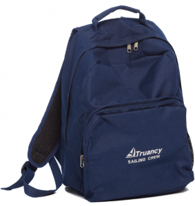 """Gift Bag: A med school friend, whose family's sailboat is the Truancy, gave Tam this backpack for Christmas. """"It's one of my favorite gifts,"""" he says."""