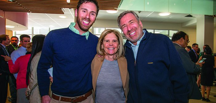 FAMILY AFFAIR: Adam Driesman '12 MD'17 with mom Shelley Driesman MD'80, P'07, and dad, Mitchell Driesman '74 MD'77, P'07. Photo by David DelPoio