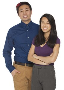 Austin Tam and Alice Cao founded the Fostering Hope chapter at Warren Alpert Medical School. Photo by Adam Mastoon