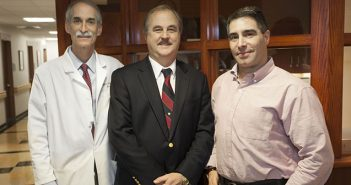 Stephen Salloway, Brian Ott, and Peter Snyder, left to right, work together to find new ways to diagnose, prevent, and treat Alzheimer's disease. Photo by Al Weems/Lifespan