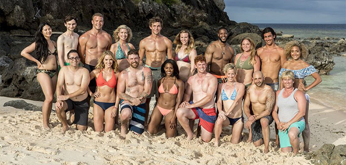 Three people have been voted off this season's Survivor, but alum Mike Zahalsky (front row, far left) and his tribe, the Healers, are still in the game. Photo courtesy CBS