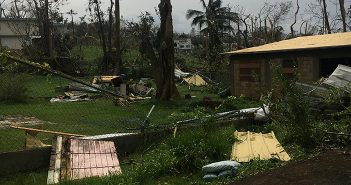 This photo taken by Dr. Santos' parents in Guaynabo glimpses Hurricane Maria's devastation. Courtesy Yanira Cortes and Orlando Santos