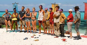 """Alum Mike Zahalsky, third from right, says """"making the merge is awesome, but I am out there to win."""" Photo courtesy CBS"""