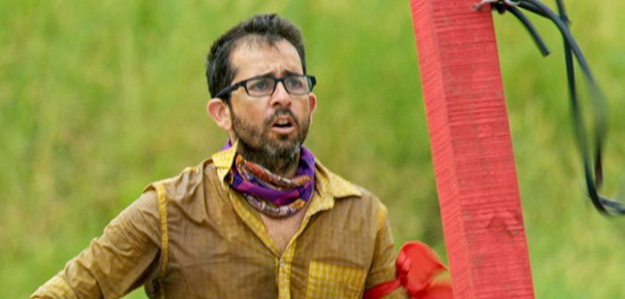 Alum Mike Zahalsky held on through another tumultuous episode of 'Survivor.' Photo courtesy CBS