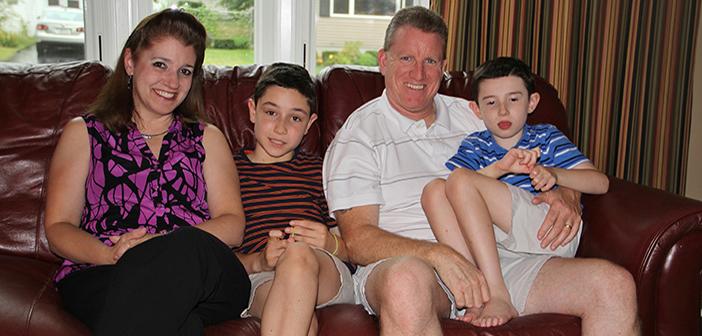 The Lavins at home: Lisa, Shane, Carl, and Austin.
