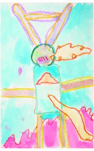 LIKE MOTHER, LIKE SON: Love of art and the outdoors runs in the family: Plavicki's son Lennon drew this firebreathing bunny robot when he was 6. Now 22, he's an environmentalist and rock climber in Colorado.
