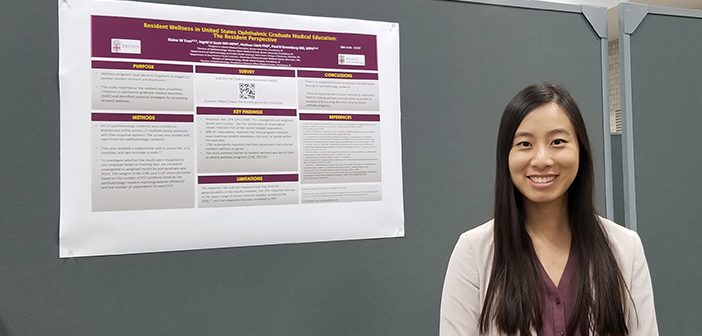 Elaine Tran hopes to survey ophthalmology residents again in a few years to find out whether new ACGME requirements help lessen burnout and depression.