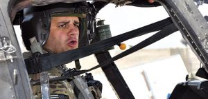 Scotti Pfirrman in the Kiowa Warrior helicopter he piloted. Photo courtesy Pfirman.
