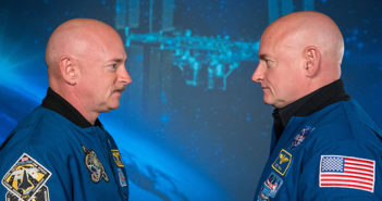 Astronaut Scott Kelly spent a year on the International Space Station while his identical twin, former astronaut Mark Kelly, remained on Earth as part of the NASA Twins Study. Photo courtesy of NASA