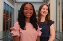 Tanisha Verneus, left, and Stana Nickolich want to connect first-gen med students.